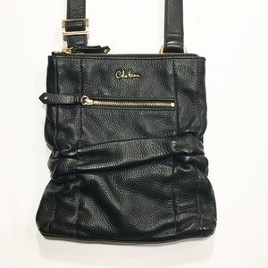 Cole Haan Black pebbled leather crossbody bag